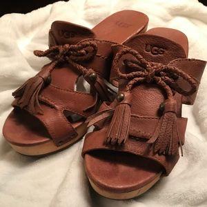 UGG Clog Sandals with Fringe